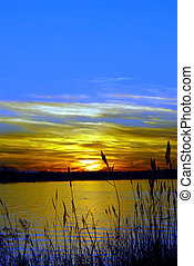 Sunset on the Chesapeake Bay, Maryland - Sunset on the...