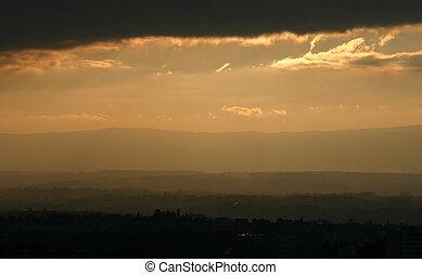 Sunset on the city 1