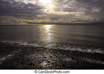 Sunset on the Cook Inlet Alaska