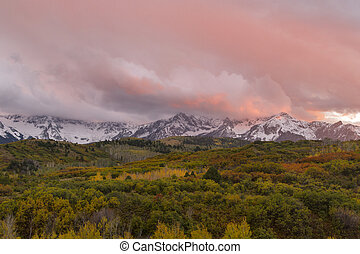 Sunset on the Dallas Divide Ridgway Colorado