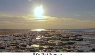 Sunset on the Gulf of Baltic sea, Riga,Latvia