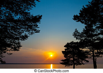 Sunset on the Gulf of Finland