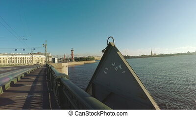 Sunset on the Neva River - RUSSIA, SAINT PETERSBURG, JULY,...