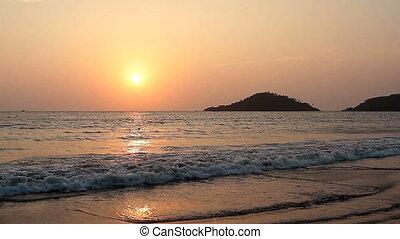 Sunset on the Palolem Beach in Goa