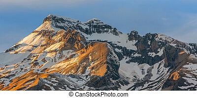 Sunset on the Peaks