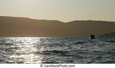 sunset on the sea in Montenegro