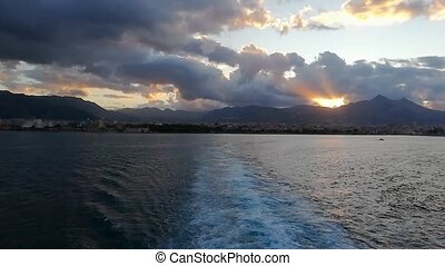 Sunset on the sea in Palermo 5