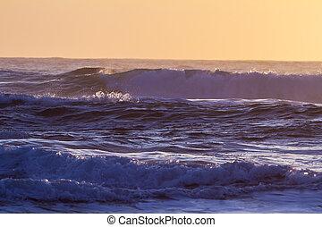 Sunset on the sea