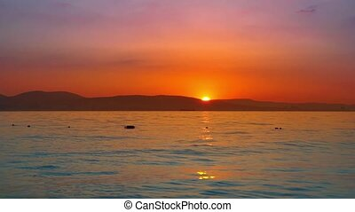 Sunset on the seascape