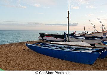 sunset on the Spanish coast