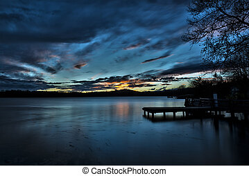 Sunset on the Varese lake