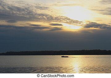 Sunset on the Volga.