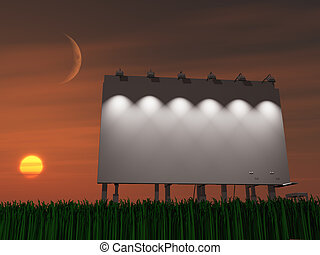 Sunset or sun rise billboard