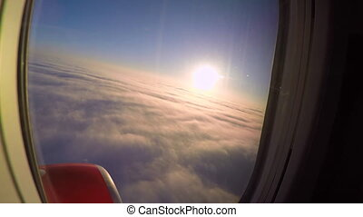 Sunset or Sunrise from the Plane