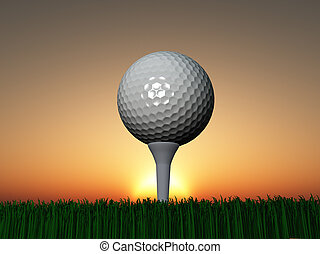Sunset or Sunrise Golf
