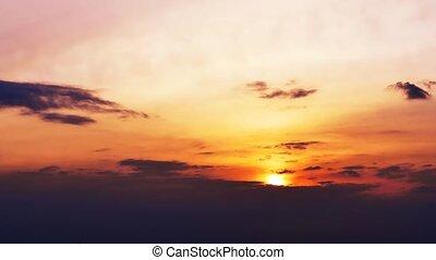 sunset orange sky clouds nature landscape time lapse