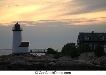 Sunset over Annisquam Light