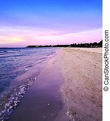 Sunset over Atlantic Ocean in Varadero, Cuba