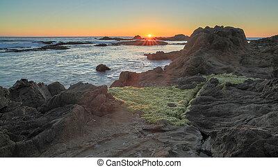 Sunset over Bean Hollow State Beach