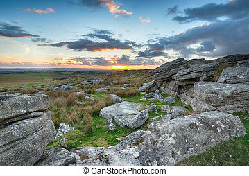 Sunset over Bodmin Moor