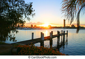 Sunset Over Broadwater