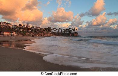 Sunset over Crescent Bay in Laguna