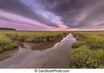 Sunset over graben creek