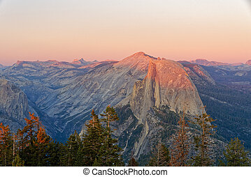 Sunset over Half Dome, Yosemite