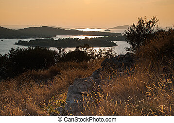 Photo of sunset over Kornati Islands, Murter, Croatia