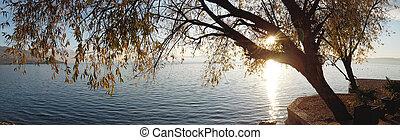 sunset over lake ohrid, macedonia - sunset over lake ohrid ...