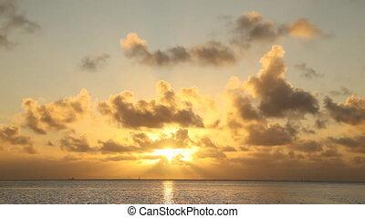 Sunset over Manihi