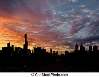 Sunset over Melbourne - A Beautiful sunset over Melbourne...