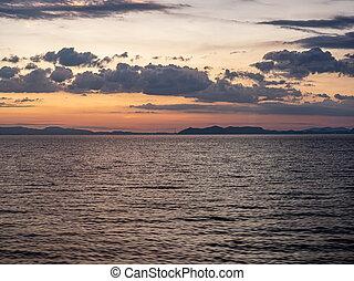 Sunset over Nagasaki Omura Bay 1