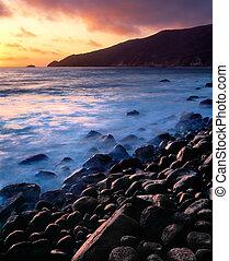 Sunset over Point Sal, California