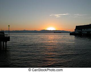 Sunset over Puget Sound - WA