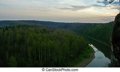 Sunset over river TimeLapse