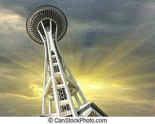 Sunset over Seattle, Washington, U.S.A.