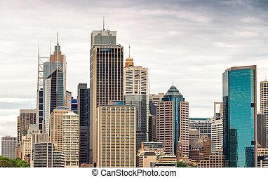 Sunset over Sydney, Australia