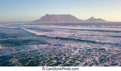 Sunset over Table Mountain, Cape Town, South Africa
