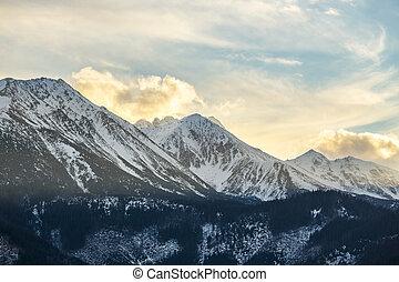 Sunset over Tatra Mountains, Poland