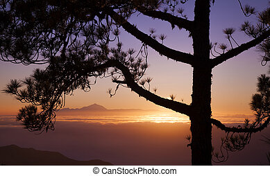 sunset over Teide