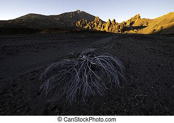 Sunset over Teide vulcano