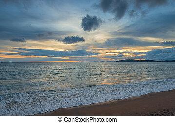 sunset over the Andaman Sea beautiful landscape