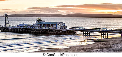 Sunset over the Bournemouth pier