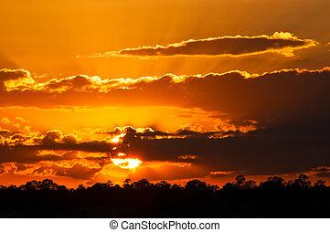 Sunset over the Grand Canyon, Arizona, USA