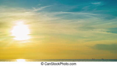 Sunset over the Gulf of Finland time lapse - Sunset over the...