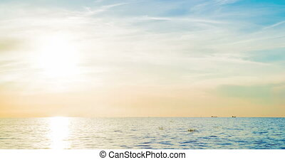 Sunset over the Gulf of Finland time laps - Sunset over the...