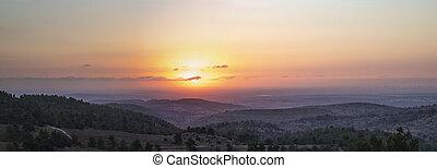 Sunset over the Israeli Coastal Plane