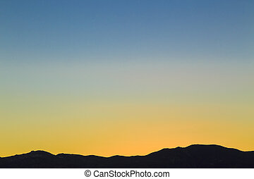 Sunset over the Mountains