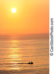 Sunset over the ocean - Beautiful sunset over the ocean